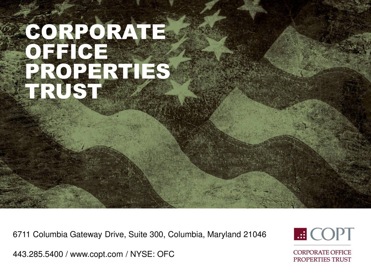 Corporate Office Properties Trust 2017 Q1 - Results ...